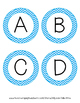Word Wall Letters - Blue Chevron