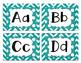 Word Wall Alphabet Letters - Blue Chevron/polka dot letters of alphabet