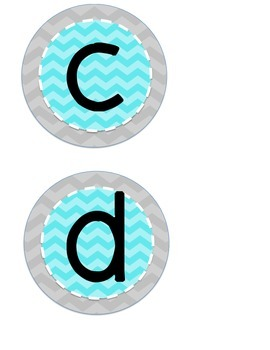 Word Wall Letters {Blue and Gray)