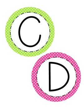 Word Wall Letters: Bright Circles