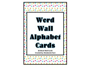 Word Wall Letters - Bright Colored Polka Dots