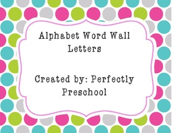 Word Wall Letters {Bright Stitched Circles} {Dollar Deal}