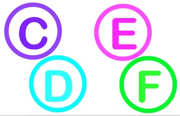 Word Wall Letters (Brights Theme)