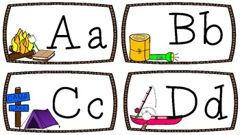 Word Wall Letters {Camping Theme} 2 Types
