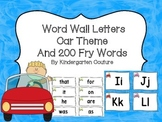 Word Wall Letters Car Theme and 200 Fry Words