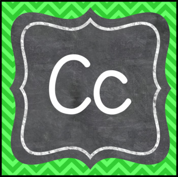 Word Wall Letters- Chalk on Bright Chevrons