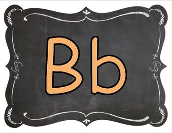 Word Wall Letters (Chalkboard Brights)