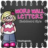 Word Wall Letters  Chalkboard Style