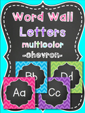 Word Wall Letters - Chalkboard with Chevron - Brights