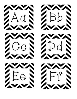 Word Wall Letters- Chevron
