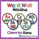 Word Wall Letters / Headers - Chevron