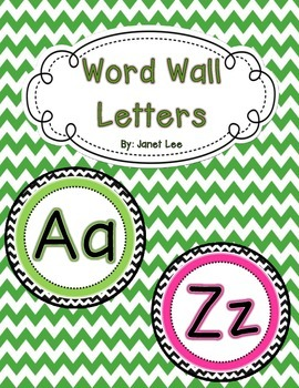 Word Wall Letters {Chevron Theme}