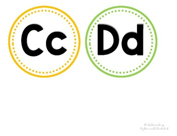 Word Wall Letters *Colorful