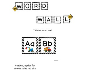 Word Wall Letters: Construction Themed