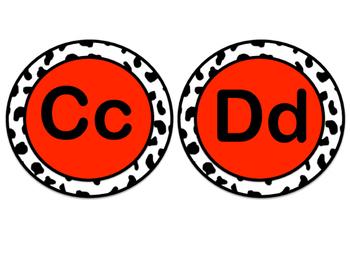 Word Wall Letters - Dalmatian Print