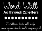 Word Wall Letters (Editable)