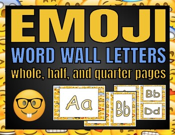 Word Wall Letters (Emoji)