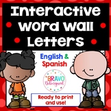 Word Wall Letters English and Spanish