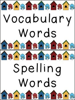 Word Wall Letters & Focus Wall Cards