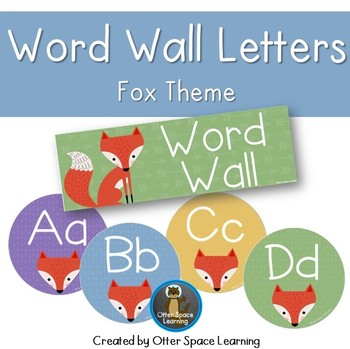 Word Wall Letters - Fox Theme