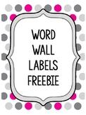 Word Wall Letters *Freebie*