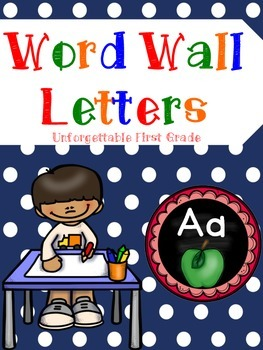 Word Wall Letters {Freebie}