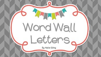 Word Wall Letters Freebie!