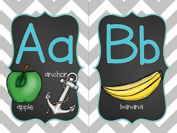 Word Wall - Gray Chevron w/ Chalkboard Background and first 300 Fry Sight Words