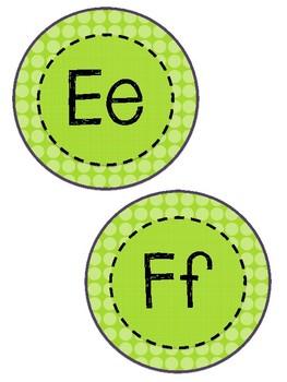 Word Wall Letters- Green- FREEBIE!