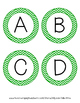 Word Wall Letters - Green Chevron