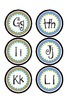 Word Wall Letters- Green and Blue (small)
