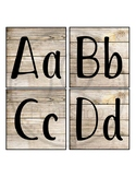 Word Wall Letters, Headers Word Wall, Wood background, Small Alphabet Letters