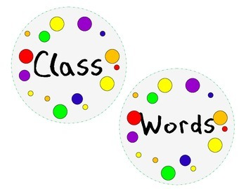 Word Wall Letters & Headings