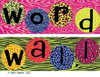 Word Wall Letters - Jungle/ Safari Themed