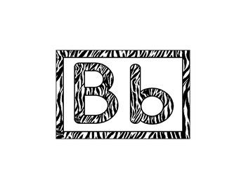 Word Wall Letters - Jungle/Safari/Zoo/Animal Print Themed