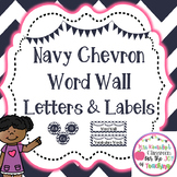 Word Wall Letters & Labels- Chevron Classroom Decor