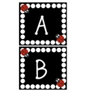Word Wall Letters Ladybug and Polka dot themed