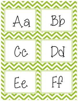 Chevron Word Wall Letters - Multi Color Pack