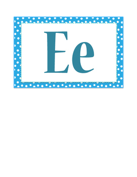 Word Wall Letters & Number Labels in Navy & Teal