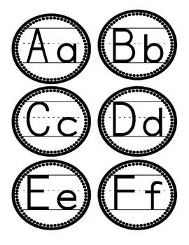 Word Wall Letters Numbers 1 30 FREEBIE