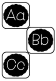 "Word Wall Letters - Optional ""Ñ"" for Bilingual Classrooms"