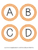 Word Wall Letters - Orange Chevron