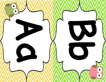 Word Wall Letters - Owls