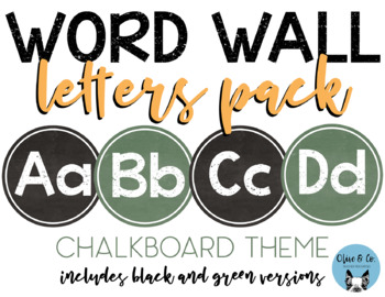 Word Wall Letters Pack Chalkboard Theme