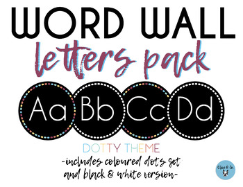 Word Wall Letters Pack - Dotty Theme