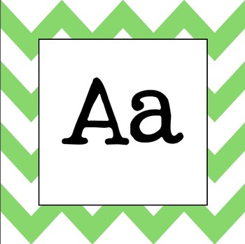 Word Wall Letters (Pale Green Chevron)