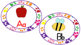 Word Wall Letters- Paw Prints Multicolored