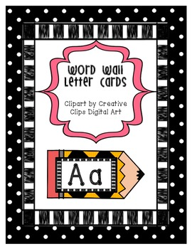 Word Wall Letters - Pencil Templates