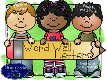 Word Wall Letters Picture & Watercolor Set