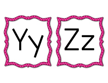 Word Wall Letters - Pink